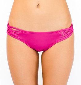 Pualani Scoop w/ Side Strings Fuschia Solid