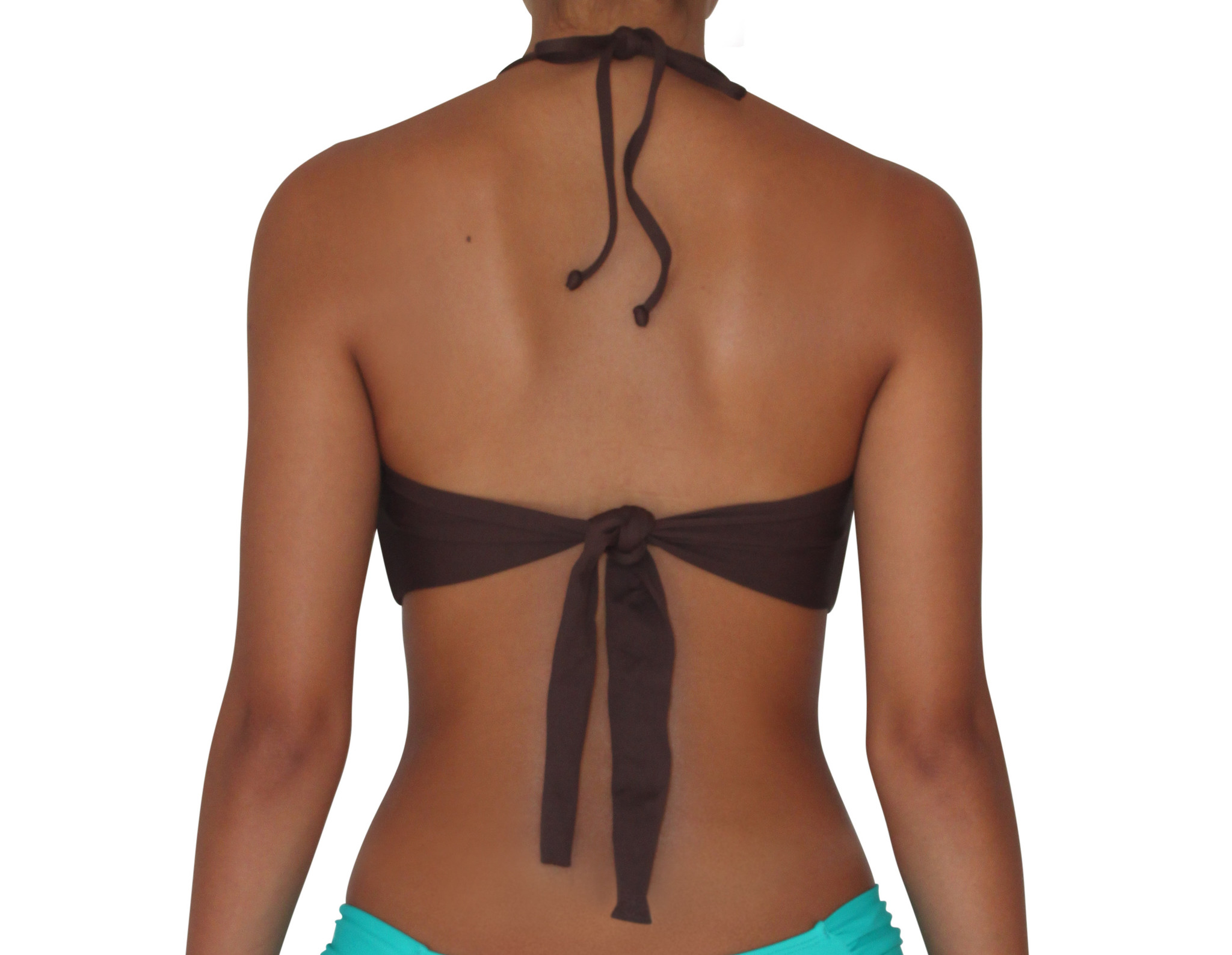 Pualani Twist Bandeau Chocolate Solid