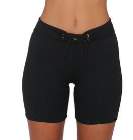 Long Hot Pant Black Solid