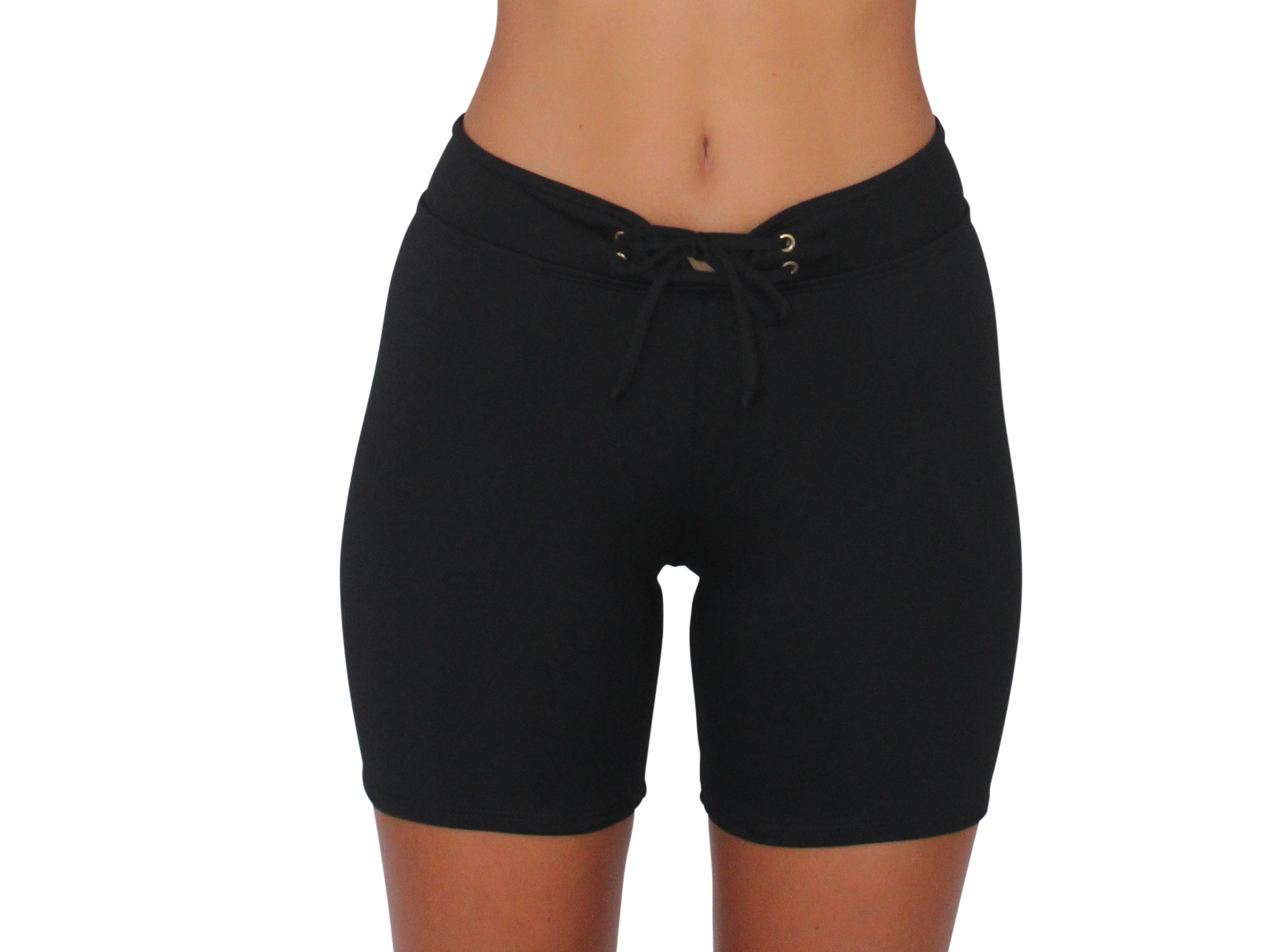 Long Hot Pant Black Solid