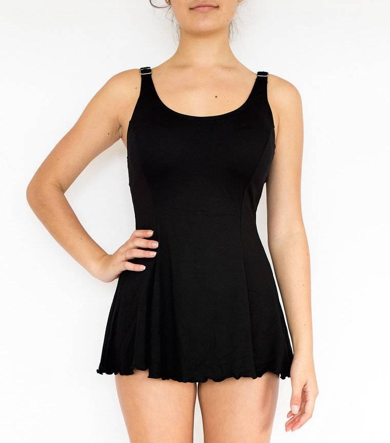 Pualani Tank Dress One Piece Black Solid