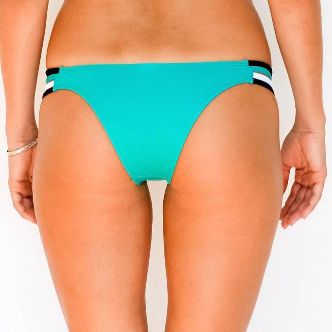 Pualani Skimpy Rio w/ Side Strings Sea Green Tri Color