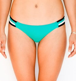 Pualani Skimpy Rio w/ Side Strings Sea Green Tri Color