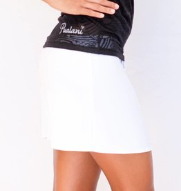 Pualani Short Drawstring Skirt White Solid