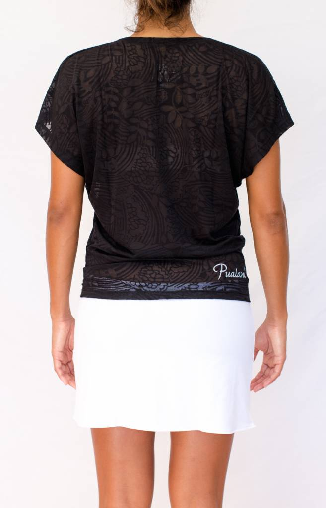 Pualani Short Drawstring Skirt White Solid