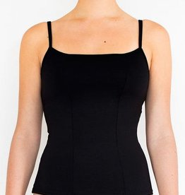 Pualani Tank w/ Shelf Bra Black Solid