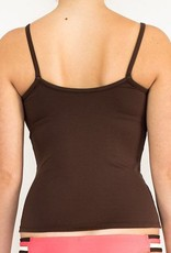Pualani Tank w/ Shelf Bra Chocolate Solid