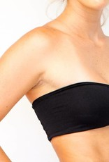 Pualani Reversible Bandeau Black Solid