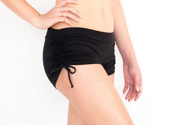 Pualani Drawstring Short Black Solid