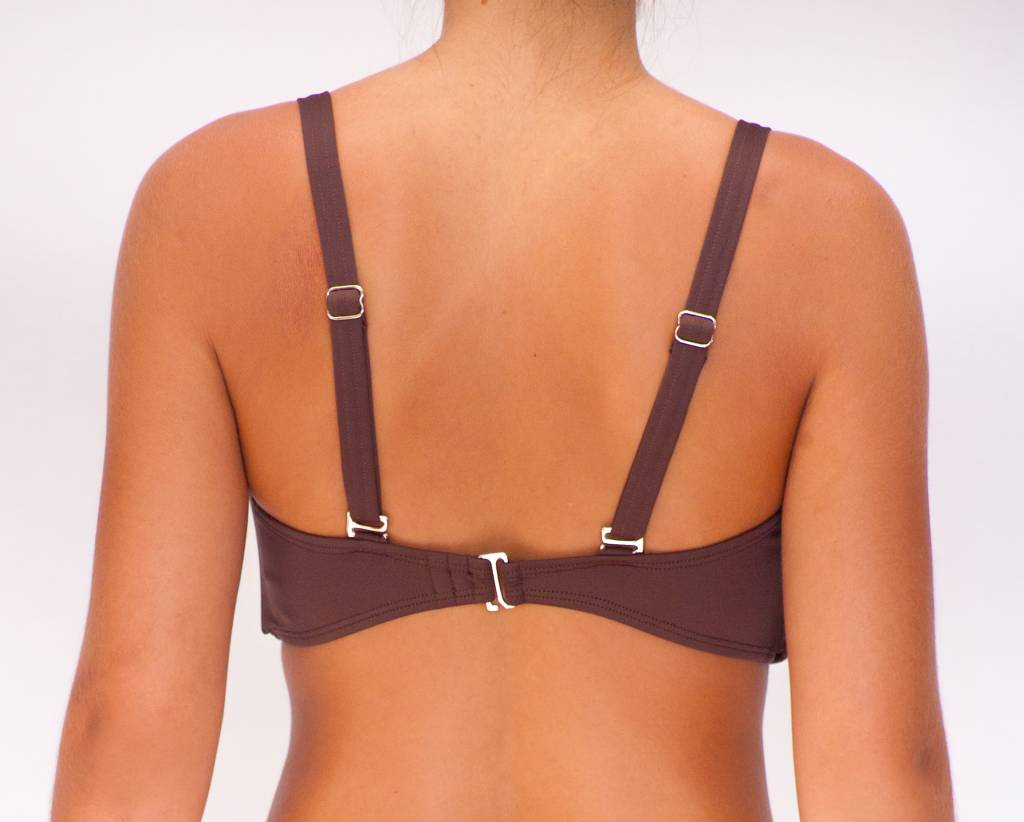 Pualani D Cup Bandeau Chocolate Solid