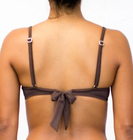 Pualani Underwire Removable Bow Chocolate Solid