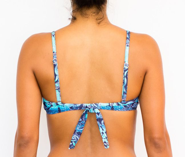 Pualani Underwire Removable Bow Laguna