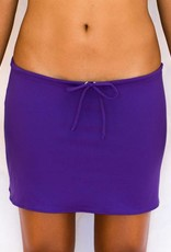 Pualani Short Drawstring Skirt Purple Solid
