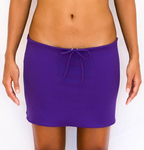 Pualani Short Drawstring Skirt Purple Solid