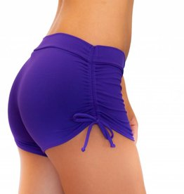 Pualani Drawstring Short Purple Solid
