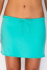 Pualani Short Drawstring Skirt Sea Green Solid