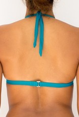 Pualani Halter Teal Solid