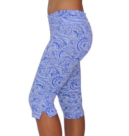 Pualani Straight Leg Capri Waves