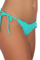 Pualani Full Scrunch Tie Side Sea Green Solid