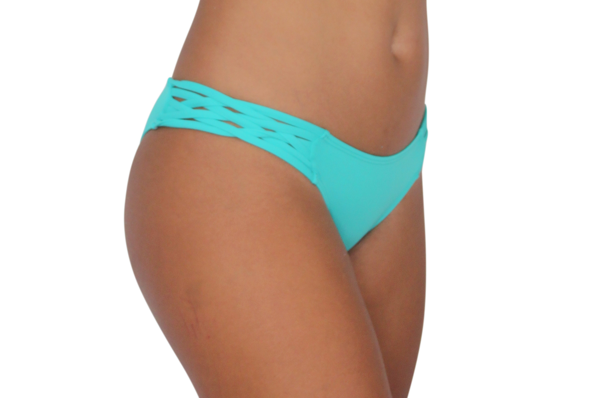 Pualani Skimpy Love with Braided Sides Sea Green Solid