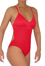Pualani Sport One Piece Red Solid