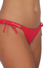 Pualani Double Tie Side Red Solid