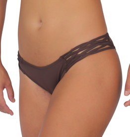 Pualani Skimpy Love with Braided Sides Chocolate Solid