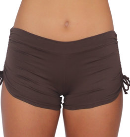 Pualani Drawstring Short Chocolate Solid