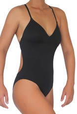 Pualani Sport One Piece Black Solid