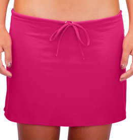 Pualani Short Drawstring Skirt Fuschia Solid