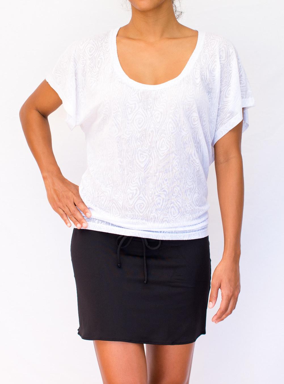 Pualani Kimono White Solid