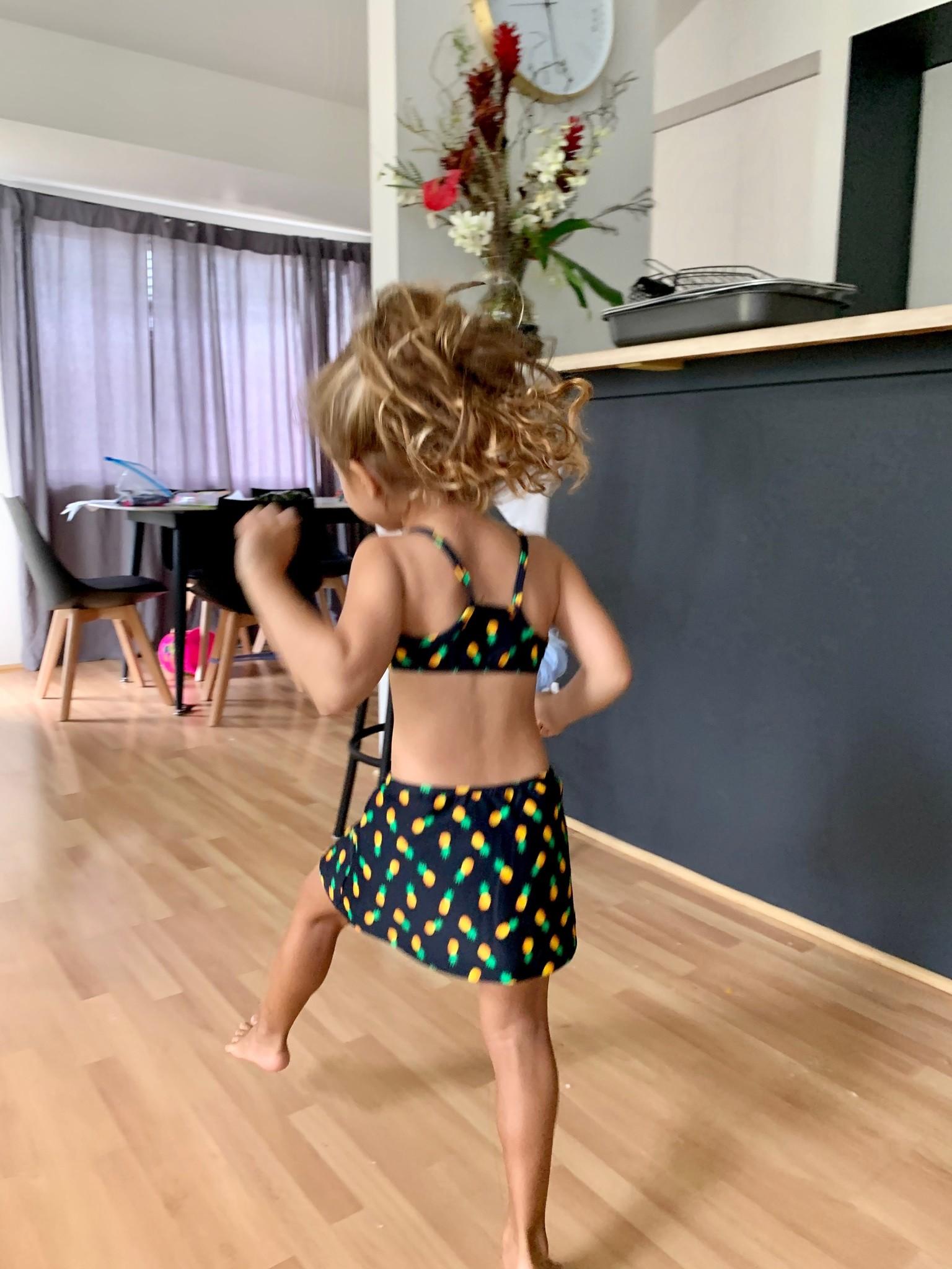 Pualani Keiki Sport Top and Skirt Pineapple