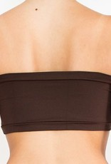 Pualani Fitness Tube Top Chocolate Solid