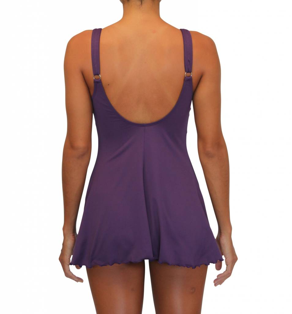 Pualani Tank One Piece Eggplant Solid