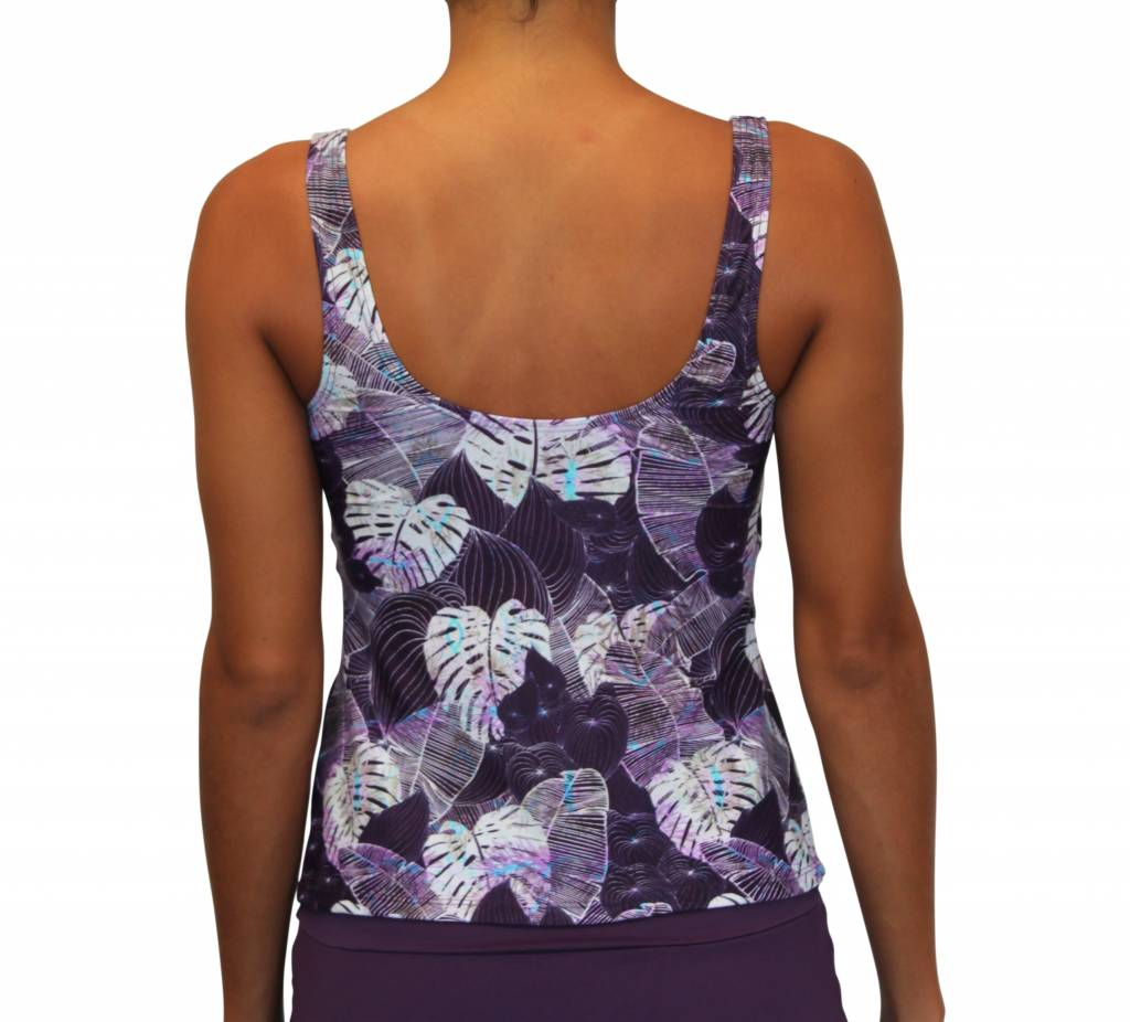 Pualani Scoop Tankini Monstera