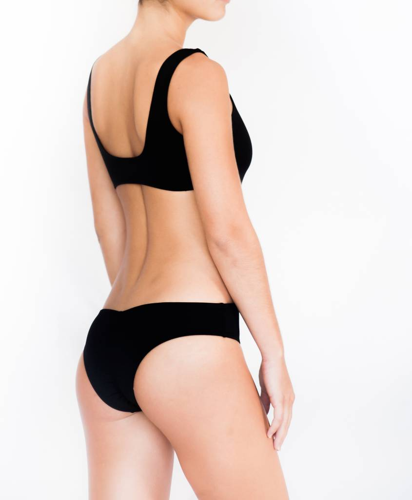 Pualani Cut Out One Piece Black Solid