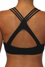 Pualani High Neck Halter Black Solid