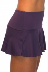 Pualani Skirt w/ Attached Bottom Eggplant Solid
