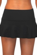 Pualani Skirt w/ Attached Bottom Black Solid