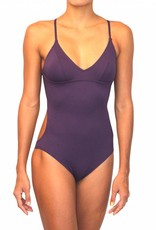 Pualani Sport One Piece Eggplant Solid