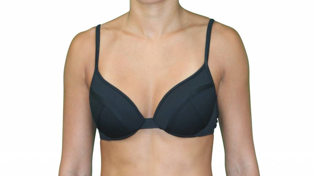 Pualani Demi Underwire Black Solid