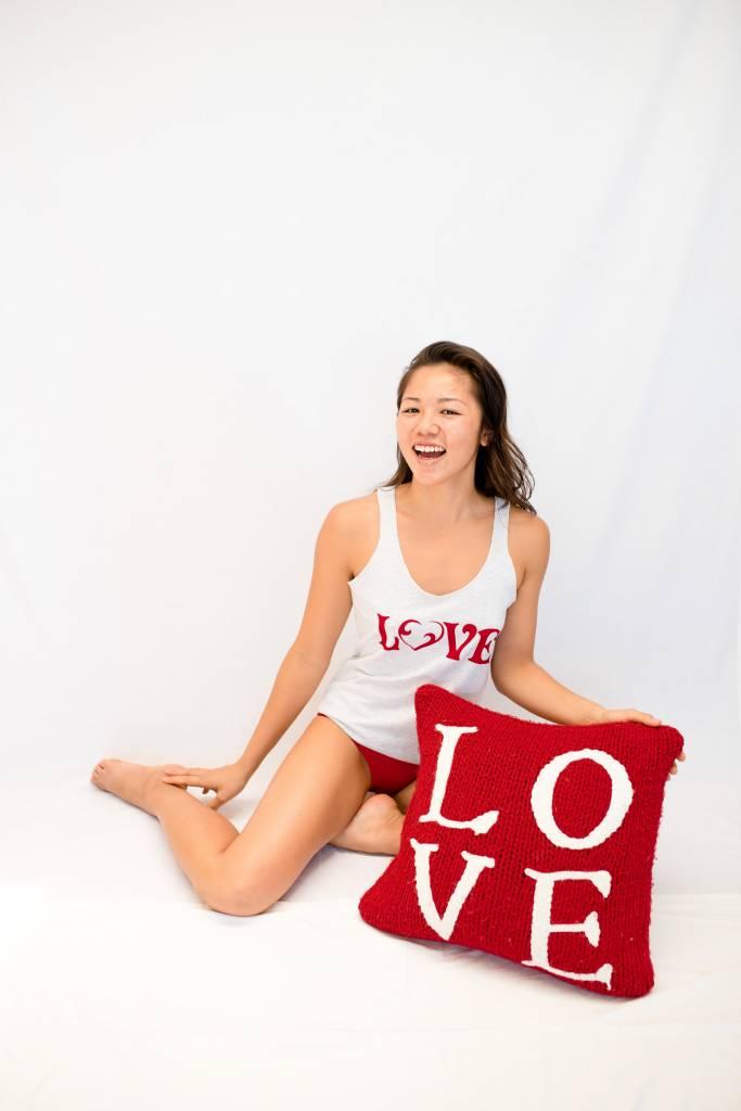 Vintage Love Tank White w/ Red