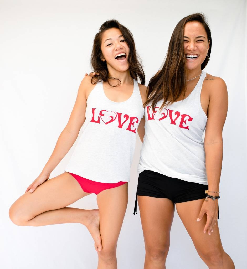 Vintage Love Tank White w/ Red