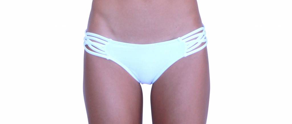 Pualani Skimpy Love with Braided Sides White Solid