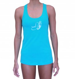 Pualani Mermaid T Back Tank Blue