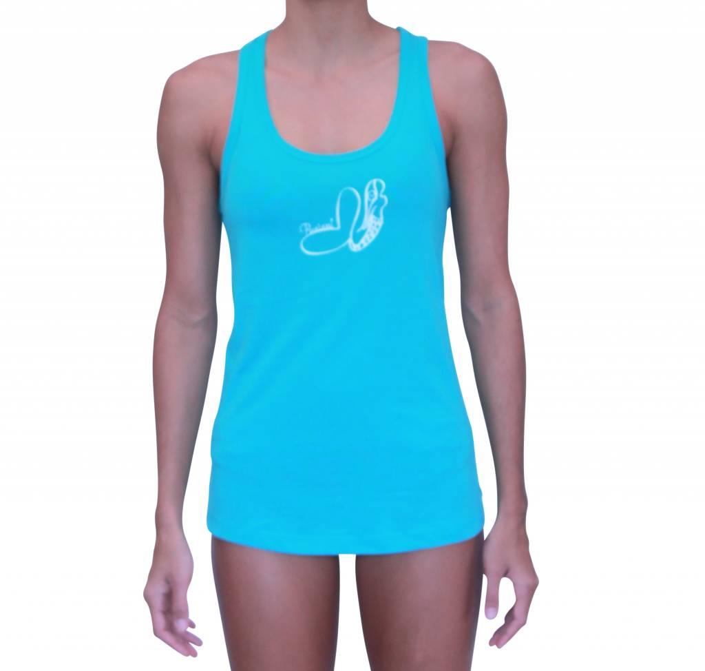 Pualani Mermaid T Back Tank Blue