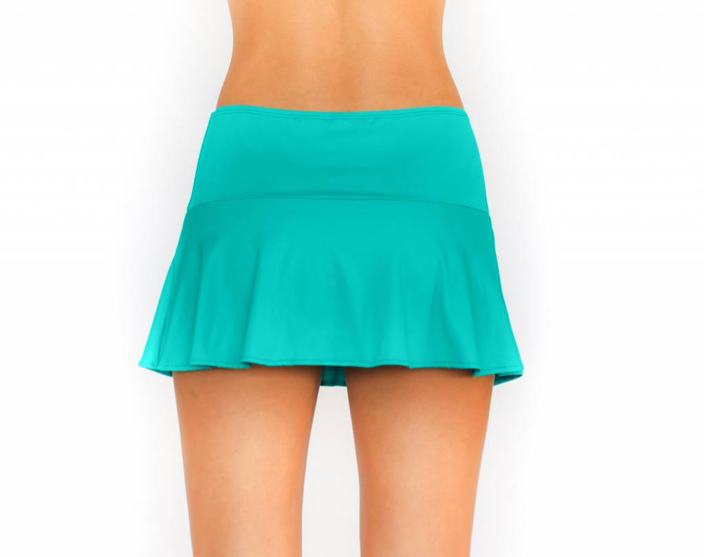 Pualani Skirt w/ Attached Bottom Sea Green Solid