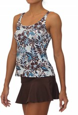 Pualani Scoop Tankini Blue Hawaii