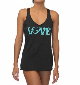 Vintage Love Tank Black w/ Sea Green