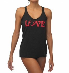 Vintage Love Tank Black w/ Red